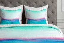 Deny Designs Home Accessories / Shop throw pillows, mirrors, duvet covers, tapestries, shower curtains, trays and coasters decorated with Laura Trevey watercolor designs.
