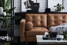 Les Salons / Idées et Inspirations pour vous aidez à réaliser votre salon de rêve. (Cozy, contemporain, boho, scandinave, rustique, foyer, divan, tapis, table basse, décors)