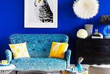 Fans de couleurs / Des idées de décors électrisant aux couleurs vives.