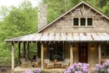 """~log cabins to retire in~ / """"warm-comfortable-cozy""""....cabins can give you all these things-if your lucky enough!"""
