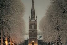 """~beautiful churches~ / """" none is so sweet to my childhood-as the little brown church in the dell"""""""