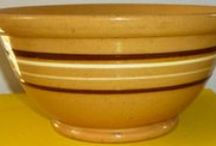 ~yellow ware bowls~ / i collect these bowls.....love them!