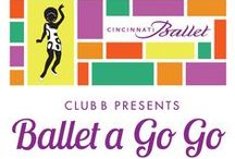 "Club B Presents Ballet A Go Go / Cincinnati Ballet celebrates the fifth anniversary of the annual Club B Gala Saturday, April 11, 2015 at 6:30 pm at The Cincinnati Ballet Center. This year's theme, Ballet A Go Go, is a celebration of iconic 1960s pop culture including ""mod"" fashion, swinging music and of course go-go dancing! Tickets on sale now at cballet.org/clubb / by Cincinnati Ballet"