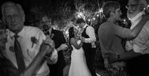 First Dances / Wedding photography of newlyweds sharing their first dance as husband and wife