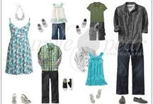 What to Wear- Family Photos / What to wear for your photo shoots, images for different times of year.