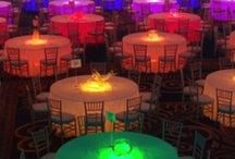 GLOW Party / Neon or Glow Party Theme perfect for banquets or other teen events.