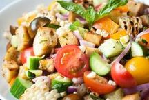 Delightful Salads and Sides / Delicious salads and sides are the best way to liven up any meal.  Better yet, make that salad a meal in itself!  Enjoy the fresh, delicious flavors of vegetables from arugula to zucchini.