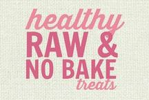 RECIPES: Healthy Raw and No Bake Treats / Recipes that are raw or no bake and are also usually vegan & sugar free too!   All of these recipes are healthy and gluten free with many recipes also suitable for a wide variety of diets and food needs, including paleo, grain free, vegan, gluten free, low fat, low carb, sugar free, diabetic, nut free and soy free recipes that all taste even better than the original!