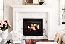 FIREPLACES / by Tasya {My House and Home}