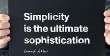 eenvoudig - inspiratie / Een zoektocht naar mooie voorbeelden van eenvoud