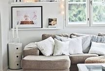 Living Rooms where I'd chill / Ah, a large  sofa full of cushions, a cup of good chai and a book. What else do i need?