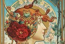 Art Nouveau / I think it's my favorite age. So full of fantasy and color!!