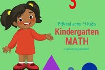 Fun Kindergarten Math / This board is a group board for paid and free activities, products, ideas, websites and more that can be used to teach kindergarten math.  / by EdVentures 4 Kids