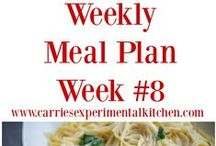 Weekly Meal Plans / Not sure what to make for dinner and need a little inspiration? Check out these sample weekly menu ideas!