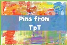 Pins from TpT / Pins of products found on TpT.