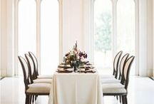 Tablescapes. / Wedding tablescape inspiration.