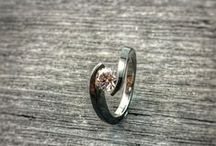 Engagement Rings / Women's Engagement Rings at Titanium Rings. #titaniumrings #titaniumengagementrings #titaniumweddingrings
