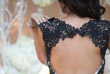 Black Wedding Inspiration / Black is the new White in Bridal Wedding attire!