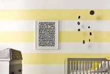 Yellow Nursery / Inspiring baby nursery ideas featuring varying shades of yellow wall paint, bedding, decor, and more. / by weeDECOR