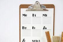 Free Printables / Kostenlose Druckvorlagen   Organisieren, Poster, Pläne