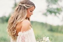 Bohemian Bride / Bohemian Inspired: Wedding Dresses, Hairstyles, Headpieces and Jewelry.