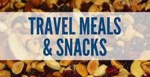 Travel Meals & Snacks / When you're traveling, you don't always eat the healthiest of food. This board includes easy travel menus, road trip food, meal and snack ideas for traveling, food tips for vacation travel, how to choose restaurants when traveling, how to pack food on your road trip, what snacks you can bring on a plane, and much more.