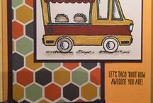 Cards-Truck ideas / Food truck cards, truck cards, all occasions, from Stampin Up Tasty Trucks stamp set 2017