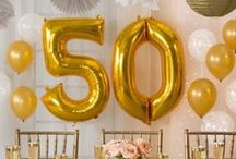 50th Anniversary Ideas / 50th Anniversary Ideas: cards, party decor, party favors, drinks, food, etc...