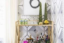 Bar Cart Style @ Stylemindchic / Home bars are stylish and an easy way to a add a festive touch to your space.