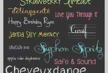 Caratteri  - fonts