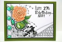 """Art: My Cards and Crafts on Etsy! / Original, one-of-a-kind, paper handmade greeting cards made with quality products. All cards are made by me and hand stamped or digitally """"stamped""""."""