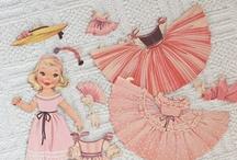 Paper dolls & Valentines / Vintage Paper Dolls  Valentines & Cards