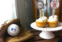Baseball Baby Shower / Ideas/Inspiration for Yankees/Red Sox themed baby shower
