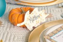 Casual & Elegant Thanksgiving Tablescapes by Cupcake Wishes & Birthday Dreams for MG Party Impressions / by Cupcake Wishes & Birthday Dreams