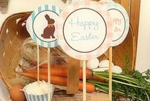 Farm House Easter Party Ideas / This farmhouse style Easter party is a delightful idea for anyone who loves country style - anything.  Designed & Styled by Cupcake Wishes & Birthday Dreams.  You can get more party ideas and download the free printables here: http://cupcakewishesandbirthdaydreams.blogspot.com/2013/03/free-printables-farmstand-chocolate.html / by Cupcake Wishes & Birthday Dreams