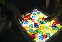 light table / by Jennifer @ Paperbirdmommy