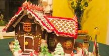 """gingerbread house / I made a gingerbread house - no pattern, just winged it. I used the """"Royal Icing"""" recipe - egg and powdered suger. I've seen it described as sweet cement. And Betty Crocker pre-mix is great for non-edible, sturdy walls."""