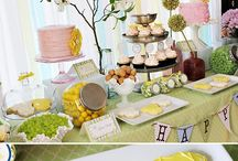Cute Shower Ideas / Ideas for themes/decorations for wedding/baby showers.