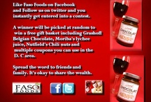 Faso Foods / Want to win a case of free Belgian Chocolate? Like us on www.facebook.com/fasofoods or follow us on Twitter @fasofoods :D