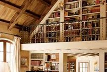 Bookshelves and places to read
