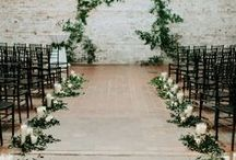 Ceremony flowers / A beautiful collection of flower styling ideas for wedding ceremonies including archways, aisle arrangements and outdoor styling.
