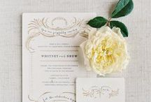 INVITATIONS + PAPER GOODS / Paper goods really help carry a theme throughout an event. Invitations set the tone for a wedding.