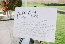 SIGNAGE FOR WEDDINGS / Different ideas for signage at weddings and events