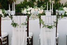 CHAIR TREATMENTS / Ideas for #chairtreatments at weddings and events
