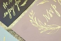GOLD FOIL INVITES + STATIONERY / Gold foil invitations and stationery