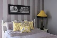 My room Inspiration.. / Grey and Yellow! / by Mel of Bacchus