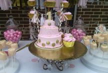 Baby's first birthday / Pink and Gold birthday party.