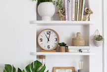 shelfies. / How to style shelves.