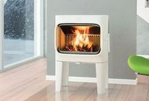 Light coloured stoves / Fireplace Product's collection of cream, white and ivory coloured stoves.