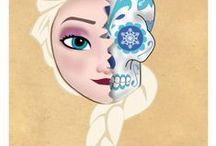 Disney Series! / My prints from my Disney Sugar Skulls series.